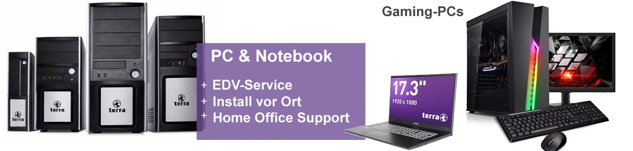 Notebooks, Tablets, PC-Systeme, Server